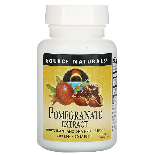 Pomegranate Extract, 500 mg, 60 Tablets