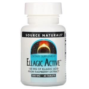 Сорс Начэралс, Ellagic Active, 300 mg, 60 Tablets отзывы