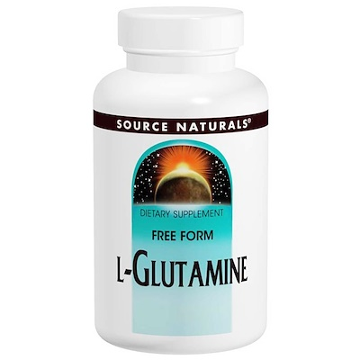 L-глутамин, 500 мг, 100 капсул