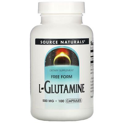 Source Naturals L-глутамин, 500 мг, 100 капсул