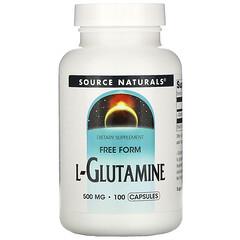 Source Naturals, L-穀氨醯胺,500 毫克,100 粒膠囊
