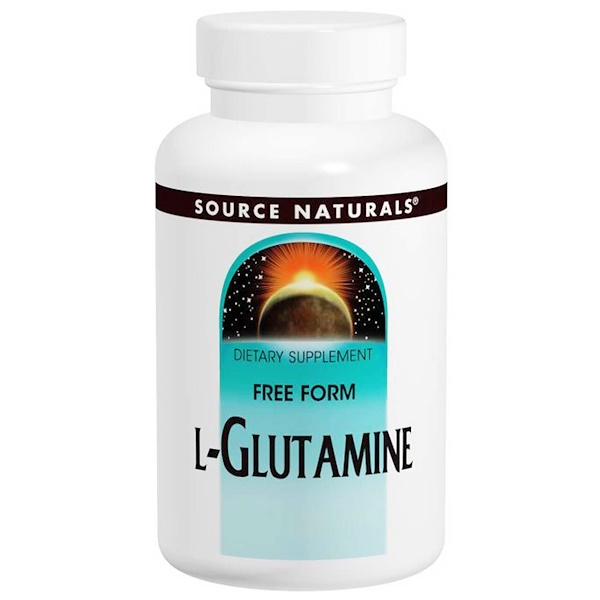 Source Naturals, L-Glutamin, 500 mg, 100 Kapseln