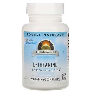 Source Naturals, Serene Science, L-Theanine, 200 mg, 60 Capsules