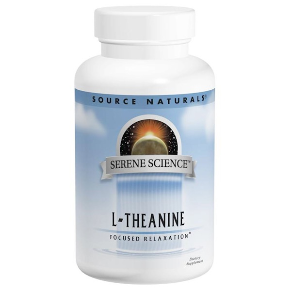 Source Naturals, L-Theanine, 200 mg, 60 Capsules