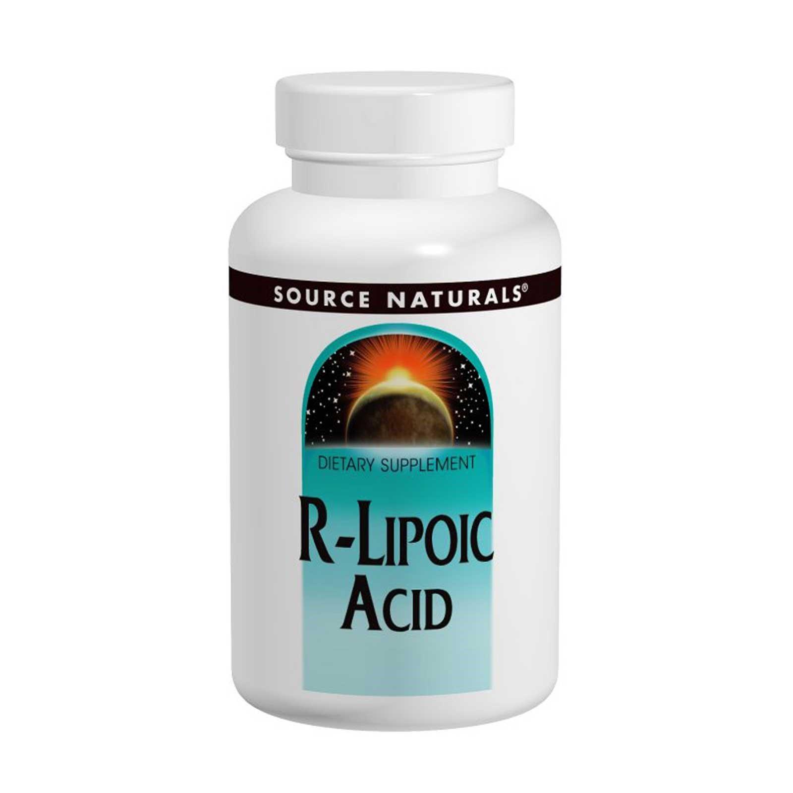 Source Naturals, R-липоевая кислота, 50 мг, 60 таблеток