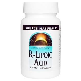 Source Naturals, R-Lipoic Acid, 100 mg, 60 Tablets