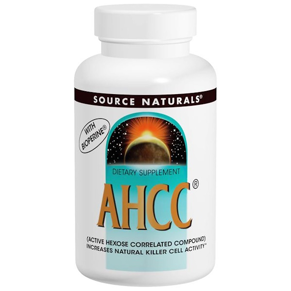 Source Naturals, AHCC with Bioperine, 500 mg, 60 Capsules (Discontinued Item)