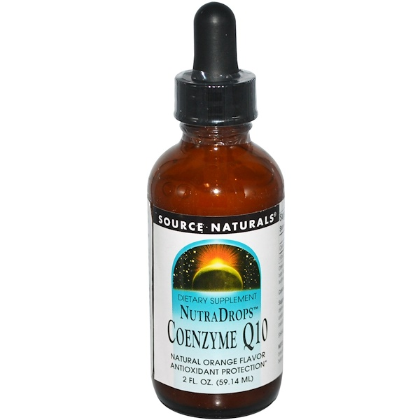 Source Naturals, NutraDrops, Coenzyme Q10, Natural Orange Flavor, 2 fl oz (59.14 ml) (Discontinued Item)