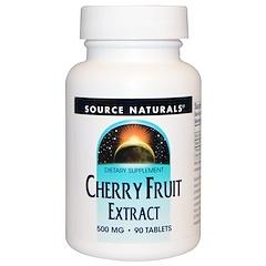 Source Naturals, Вишневый экстракт, 500 мг, 90 таблеток
