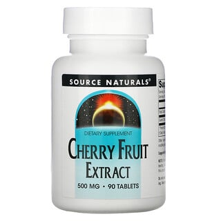 Source Naturals, Cherry Fruit Extract, 500 mg, 90 Tablets