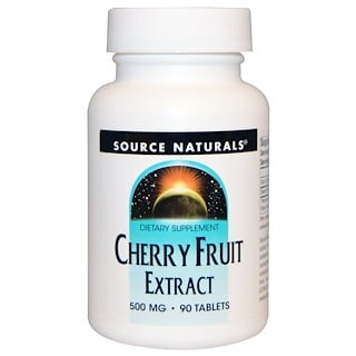 Source Naturals, Extrato de cereja, 500 mg, 90 comprimidos