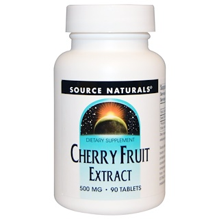 Source Naturals, Extracto de Cereza, 500 mg, 90 Tabletas
