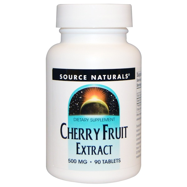 Extracto de Cereza, 500 mg, 90 Tabletas