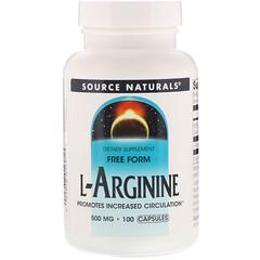Source Naturals, L-精胺酸,500 毫克,100 粒膠囊