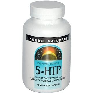 Source Naturals, 5-HTP, 100 mg, 120 Capsules