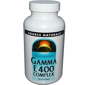 Сорс Начэралс, Gamma E 400 Complex, 120 Softgels отзывы