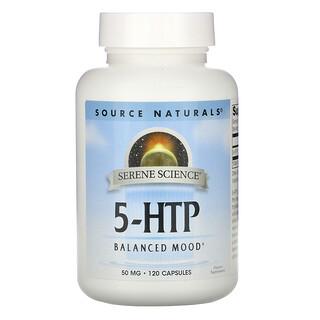 Source Naturals, 5-HTP, 50 mg, 120 Capsules