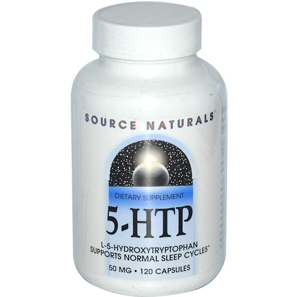 5-HTP, 50 mg, 120 Capsules