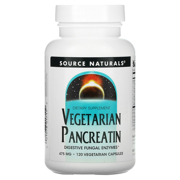 Vegetarian Pancreatin, 475 mg, 120 Capsules