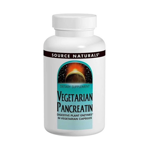 Source Naturals, Vegetarian Pancreatin, 475 mg, 120 Capsules