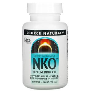 Сорс Начэралс, NKO, Neptune Krill Oil, 500 mg, 60 Softgels отзывы