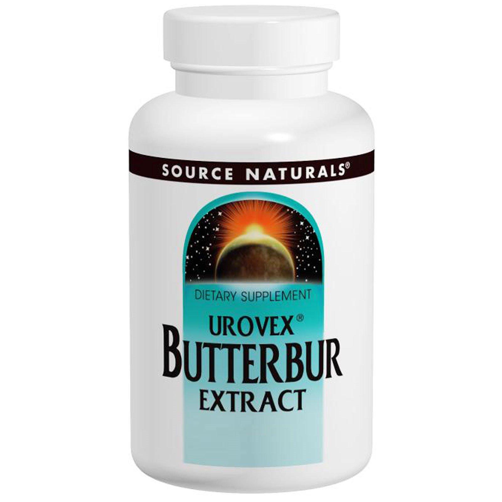Source Naturals, Экстракт белокопытника Urovex, 50 мг, 60 мягких капсул