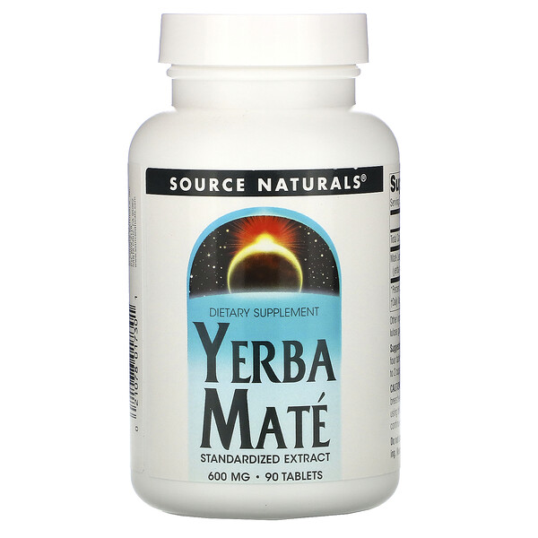 Source Naturals, Yerba Mate, 600 mg, 90 comprimidos