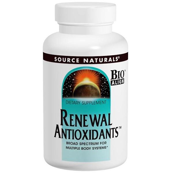 Source Naturals, Renewal Antioxidants, 60 Tablets (Discontinued Item)
