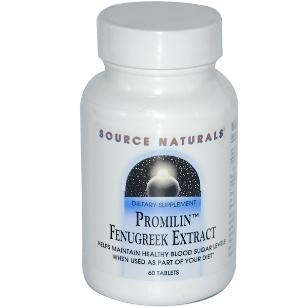 Source Naturals, Promilin Fenugreek Extract, 60 Tablets (Discontinued Item)