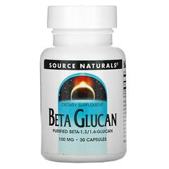 Source Naturals, β 葡聚糖,100 毫克,30 粒膠囊