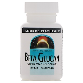 Source Naturals, Beta Glucano, 100 mg, 30 cápsulas