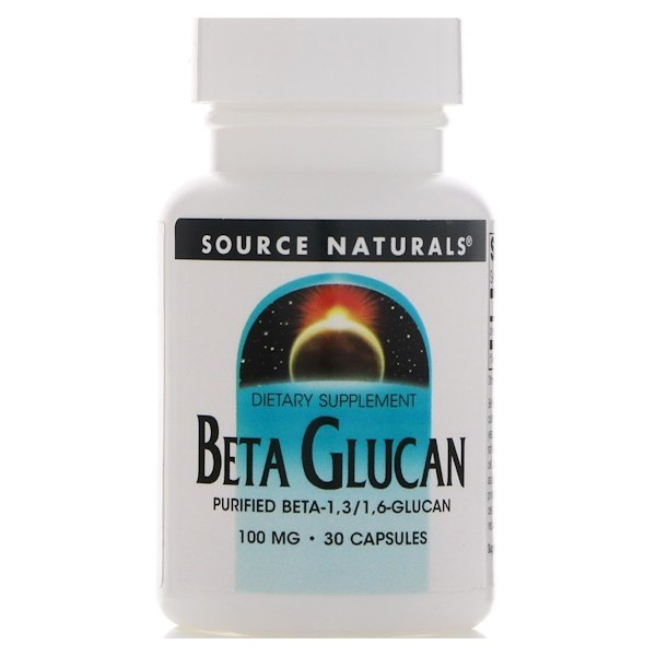 Source Naturals, Beta Glucan, 100 mg, 30 Kapseln