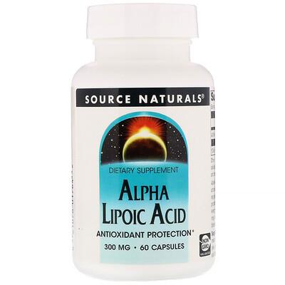 Альфа-липоевая кислота, 300 мг, 60 капсул альфа липоевая кислота экстра сила 600 мг 60 растительных капсул
