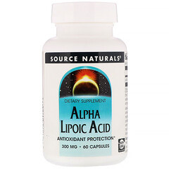 Source Naturals, Acide alpha-lipoïque, 300mg, 60 Gélules
