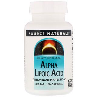 Source Naturals, Alpha Liponsäure, 300 mg, 60 Kapseln