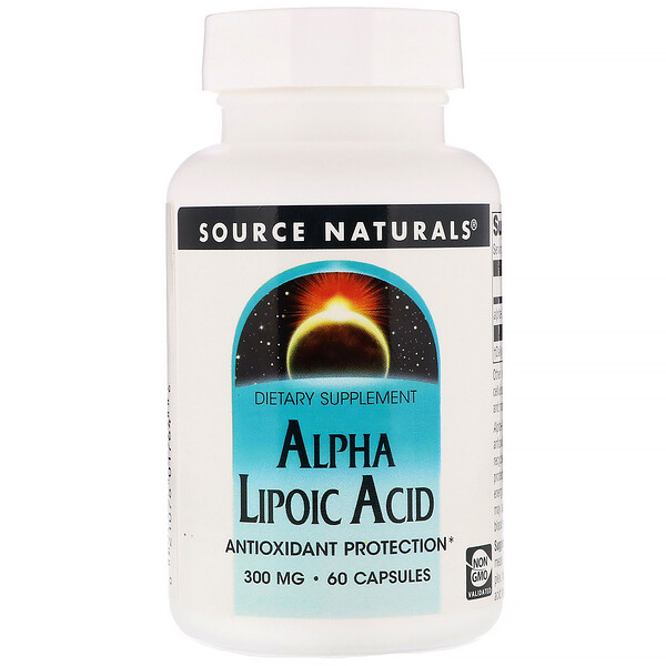 Source Naturals, Alpha Lipoic Acid, 300 mg, 60 Capsules