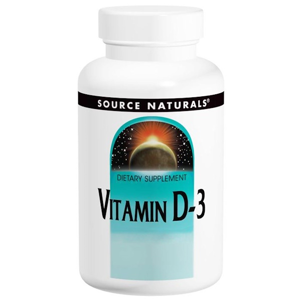 Source Naturals, Vitamin D-3, 400 IU, 200 Tablets