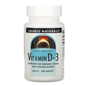 Сорс Начэралс, Vitamin D-3, 400 IU, 200 Tablets отзывы покупателей