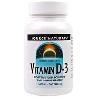 ВитаминD-3, 1000МЕ, 200таблеток - фото