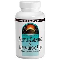 Ацетил-L-карнитин и альфа-липоевая кислота, 650 мг, 60 таблеток - фото