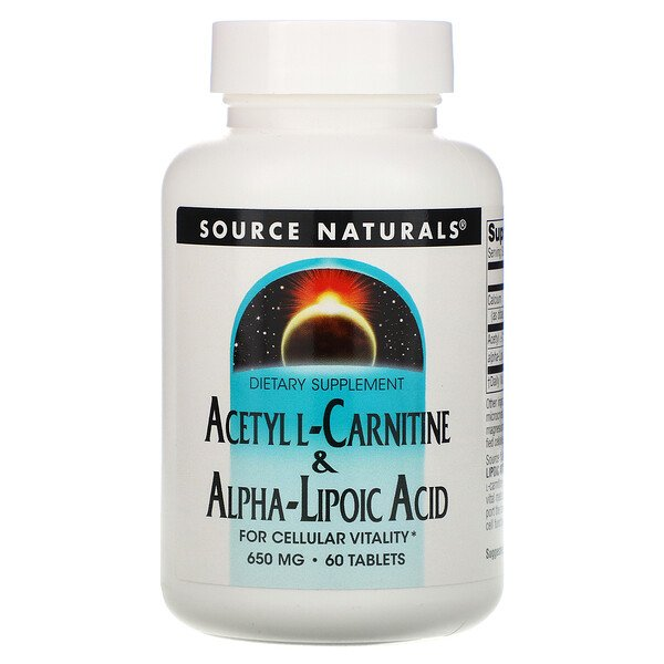 Acetyl L-Carnitine & Alpha Lipoic Acid, 60 Tablets