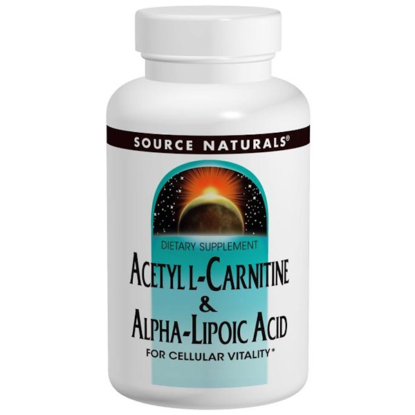 Source Naturals, Acetyl L-Carnitine & Alpha Lipoic Acid, 650 mg, 60 Tablets