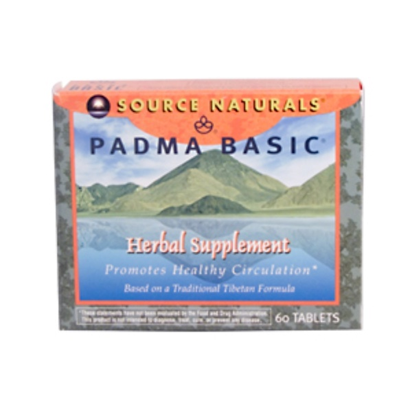 Source Naturals, Padma Basic, 60 Tablets (Discontinued Item)