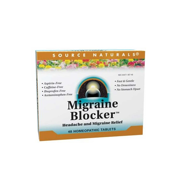 Source Naturals, Migraine Blocker, Headache and Migraine Relief, 48 Tablets (Discontinued Item)