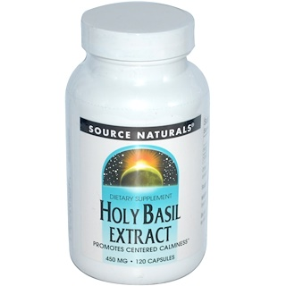 Source Naturals, Heiliges-Basilikum-Extrakt, 450 mg, 120 Kapseln