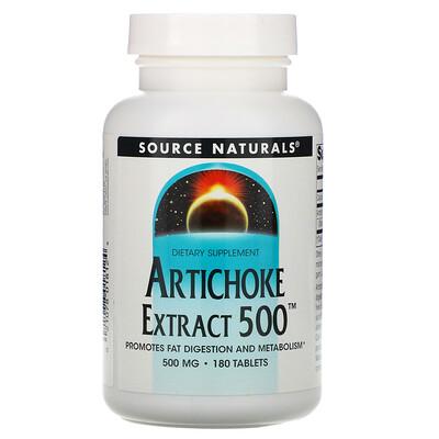 Source Naturals Экстракт артишока 500, 180 таблеток