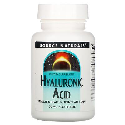 Купить Source Naturals Гиалуроновая кислота, 100 мг, 30 таблеток