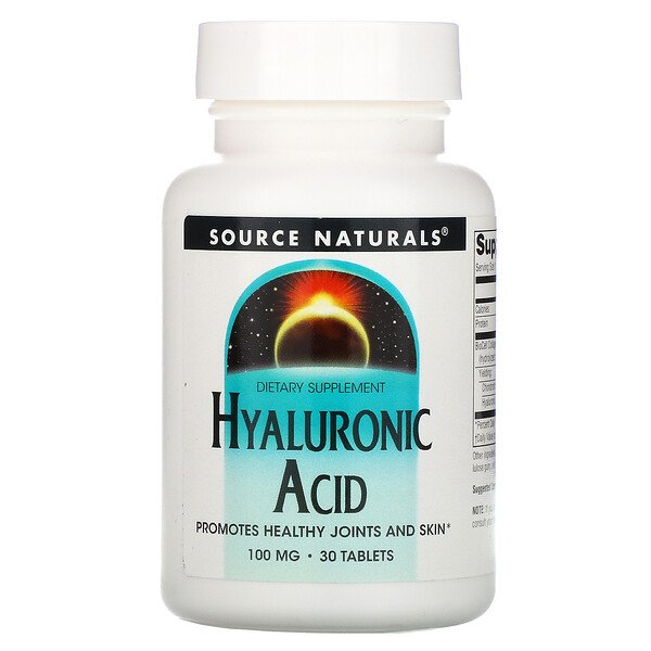 Hyaluronic Acid, 100 mg, 30 Tablets