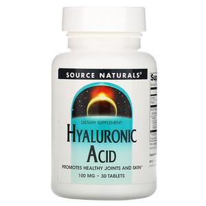 Сорс Начэралс, Hyaluronic Acid, 100 mg, 30 Tablets отзывы покупателей