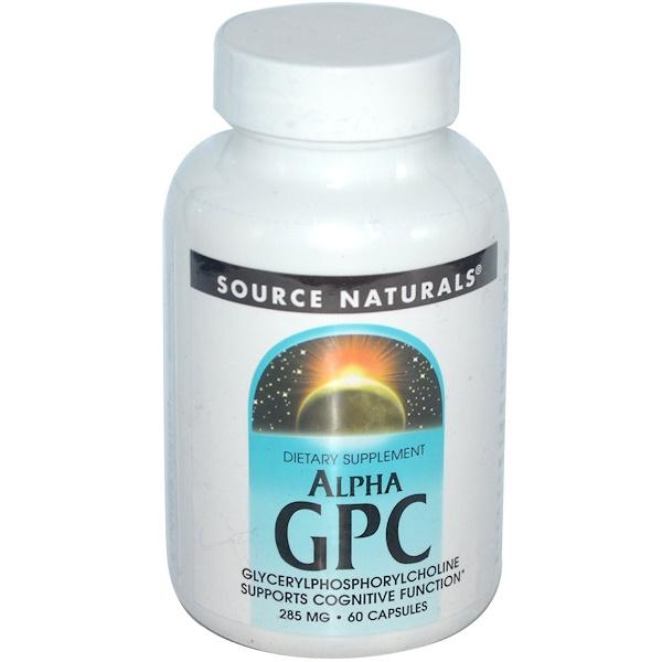 Source Naturals, Alpha GPC, 285 mg, 60 Capsules (Discontinued Item)